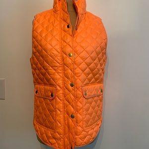 J.Crew Orange Puffer Vest